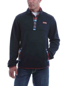 Cinch Fleece Pullover Navy Multi