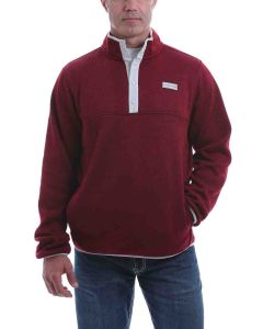 Cinch Fleece Pullover Burgundy