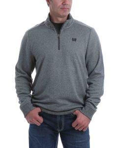 Cinch ¼ Zip Pullover Sweater Grey