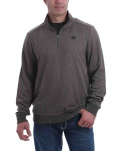 Cinch ¼ Zip Pullover Sweater Brown