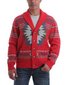 Cinch Retro Aztec Sweater Red