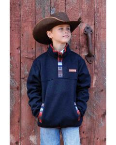 Cinch Boys Fleece Pullover Navy Multi
