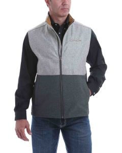 Cinch Mens Grey Color Block Bonded Vest
