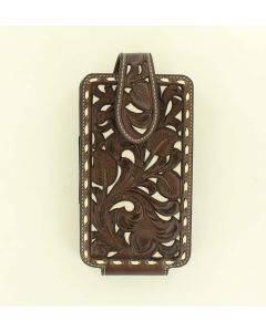 Nocona Leather Phone Case Brown