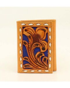 Nocona Trifold Wallet Nat-Blue