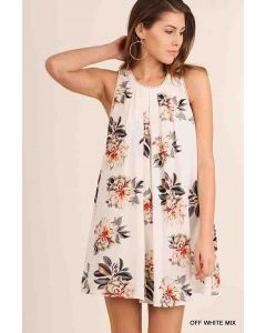 Umgee Slvless Floral Dress OWM