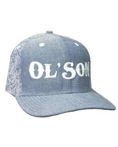 Ol Son Light Denim Paisley Hat
