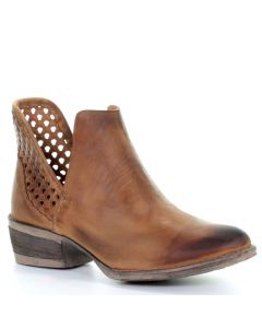 Ladies Booties Circle G by Corral Q5027 Light Brown