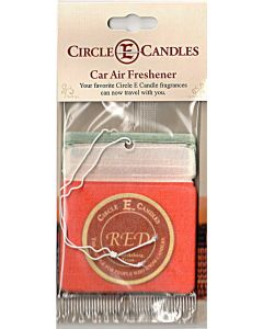 Circle E Car Air Freshener Red