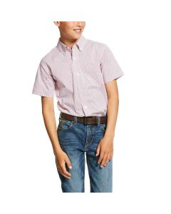 Ariat Boys Nemano Shirt White
