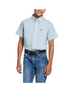 Ariat Boys Reedley Print Shirt Soothing Sea
