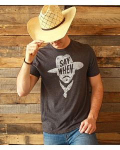 Say When Tee Vintage Charcoal