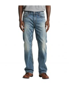 Mens Silver Jeans Craig Md Blue