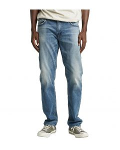 Mens Silver Jeans Eddie Md Blue
