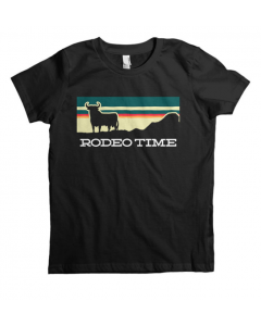 Rodeo Time Kids Tee Sunset Blk