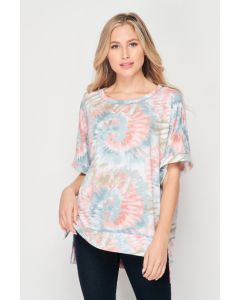 honeyme Tie Dye Top Jade-Mocha