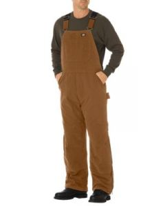 Insulated Bib Overalls Brown