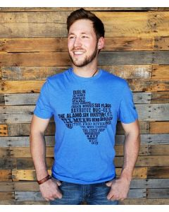 Things About Texas Tee Vintage Blue