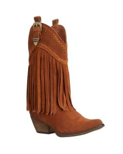 Very Volatile Tan Fringe Boots