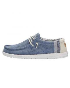 Hey Dude Wally Linen Natural Blue