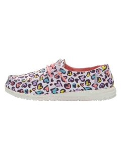 Hey Dude Wendy Youth White Leopard