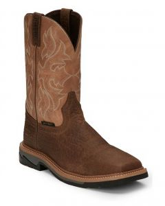 Justin Composite Safety-Toe Work Boots Stampede Bolt Caramel