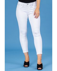 Royalty Cuffed Ankle Jeans White